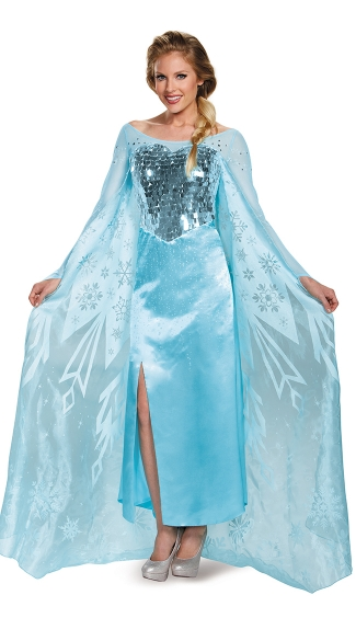 Deluxe Frozen Queen Elsa Costume, Frozen Princess Costume, Adult Frozen Queen Elsa Costume