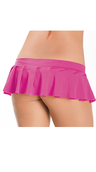 Pleated Micro Mini Skirt - Neon Pink