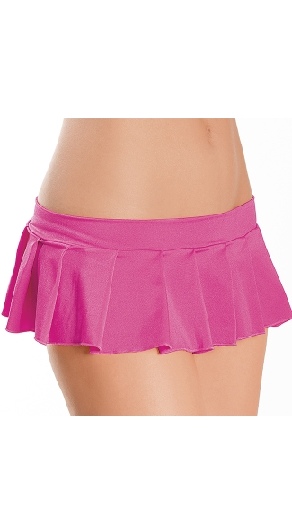 Pleated Micro Mini Skirt, Stretch Mini Skirt