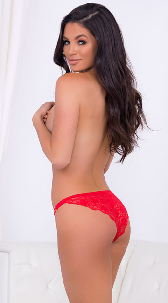 Eye Candy Panty - Red