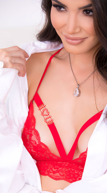 Eye Candy Bra Set - Red