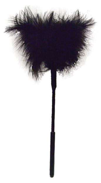 Sex & Mischief Black Feather Tickler - Black