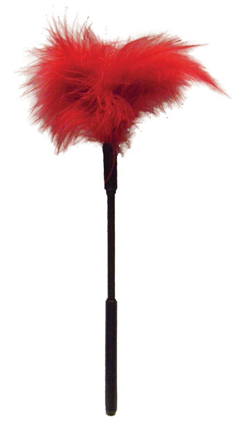 Sex & Mischief Red Feather Tickler - Red