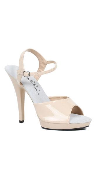 5 Quot Patent Sandals Open Toe Sandals Yandy Com
