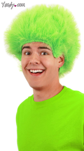 Fuzzy Green Wig Troll Wigs Adults Green Troll Wig