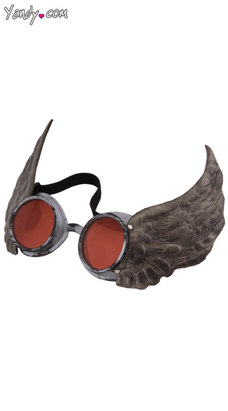 Winged Goggles - Silver