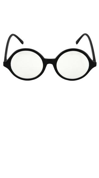 Round Glasses - Black