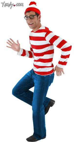 Waldo Costume, Where\'s Waldo Halloween Costume, Wheres Waldo Adult Costume