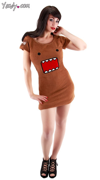 Brown Domo Costume, Domo Kun Costume, Domo Halloween Costume