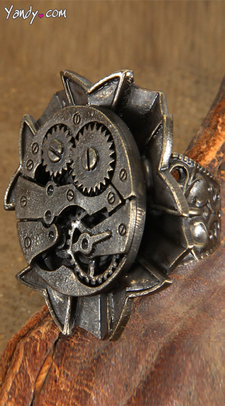 Antique Watch Gears Ring - Copper