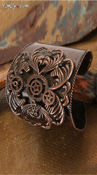 Antique Copper Cuff Bracelet - Copper