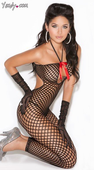 Crochet Bodystocking - Black