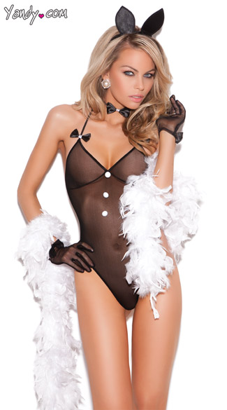 Bunny Love Lingerie Costume - Black