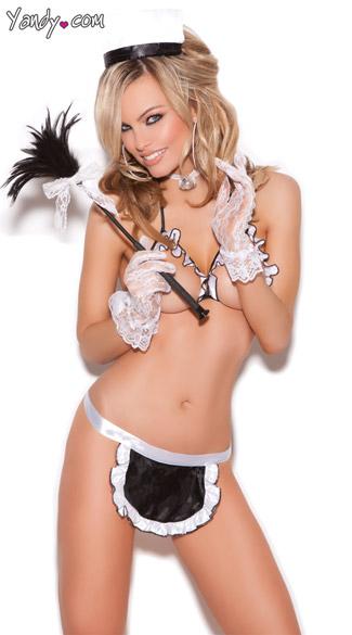 Maid To Order Lingerie Costume - Black/White