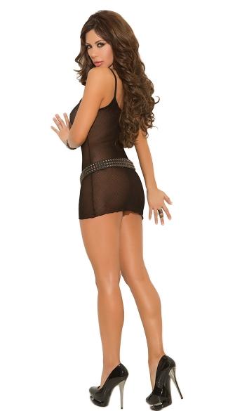 Slip Style Mini Dress - Black