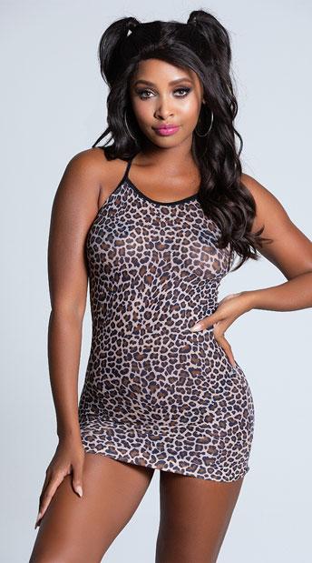 Bold Leopard Chemise - Leopard Print