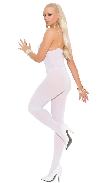 Open Crotch Bodystocking - White