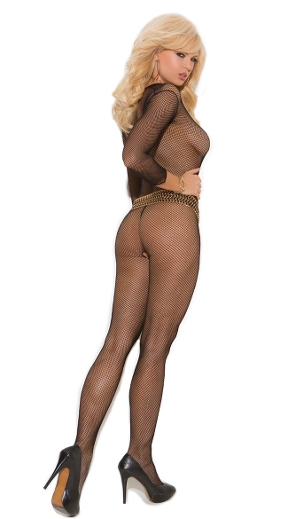 Long Sleeve Bodystocking - Black