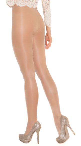French Cut Support Sexy Pantyhose - Nude