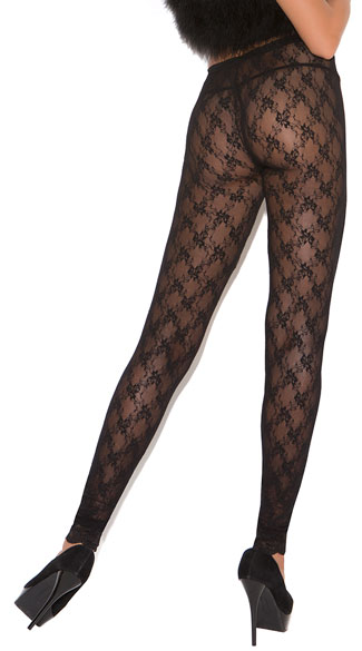 Lace Leggings - Black