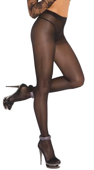 Sheer Black Pantyhose - Black