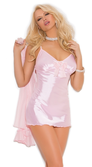 Baby Pink Babydoll Lingerie Set - Baby Pink