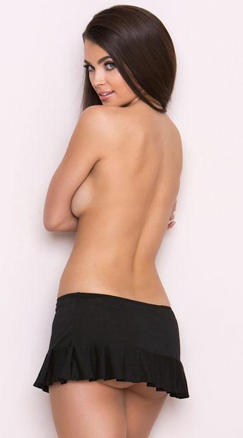 Low Rise Mini Skirt - Black