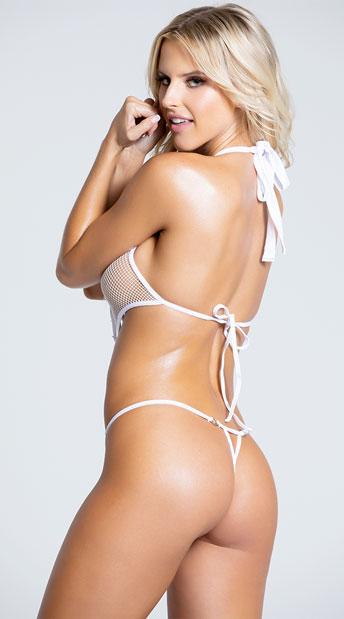 Provocative White Monokini - White