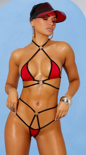 Micro bikini pictures Red Tape Micro Bikini Red Strappy Micro Bikini Yandy Com