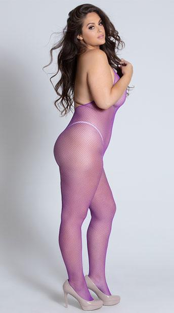 Plus Size Freak In The Sheets Bodystocking - Purple