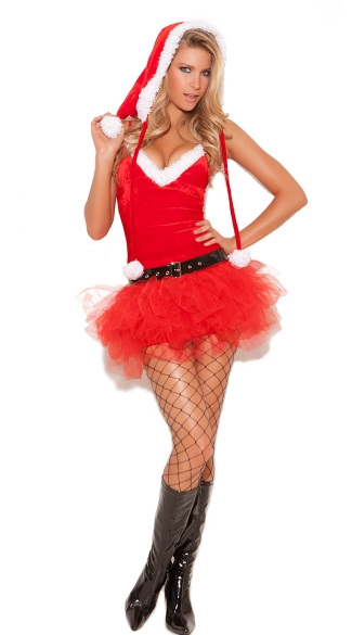 Santa\'s Sweetie Costume, Sexy Santa\'s Little Helper, Santa Tutu Costume