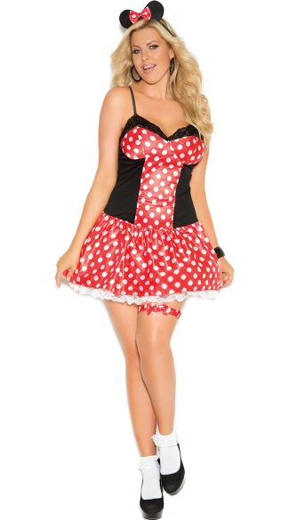 Plus Size Sexy Ms. Mouse Costume, Adult Mouse Costume, Sexy Plus Size Mouse Costume