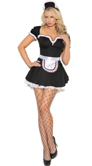 Maid To Please Costume, Sexy Maid Halloween Costume, Sexy French Maid Costume