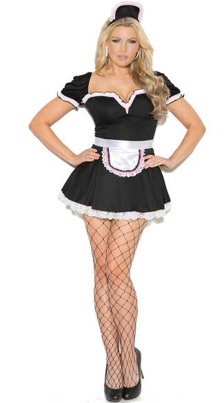 Maid To Please Costume, Sexy Maid Halloween Costume, Sexy French Maid Costume, Sexy Plus Size Maid Costume
