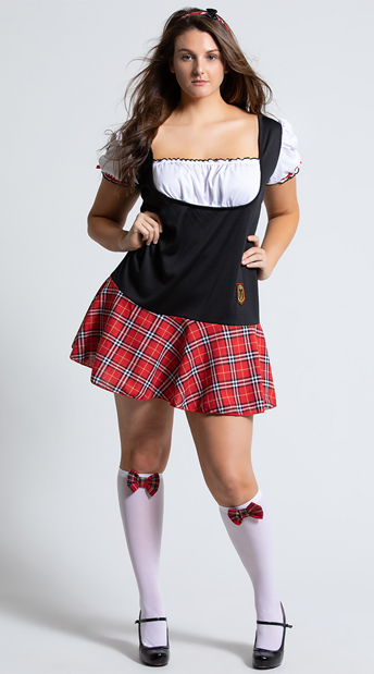 Plus Size Frisky Freshman Costume - As Shown