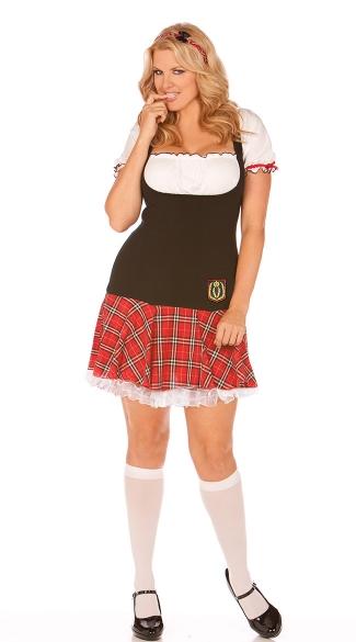 plus size frisky freshman costume plus size black and red