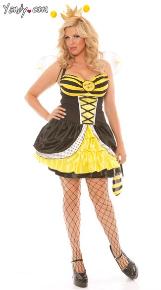 plus size adult queen bee costume