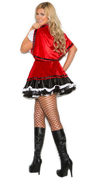 Plus Size Storybook Red Costume - As Shown
