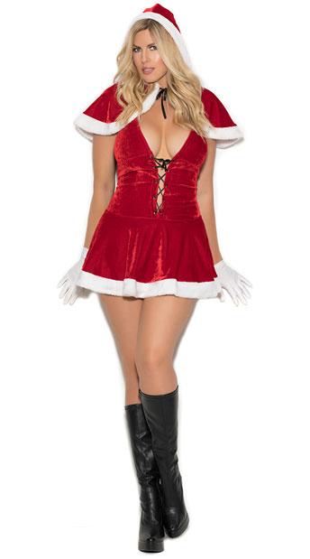 Plus size sexy santa costume