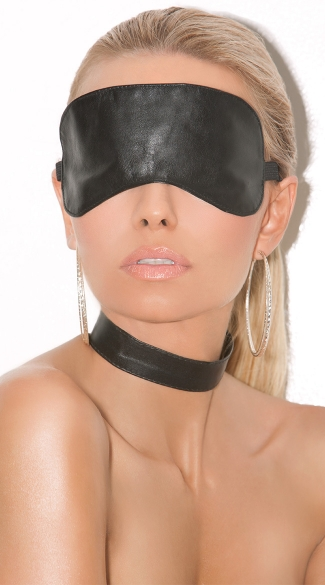 Plain Leather Blindfold