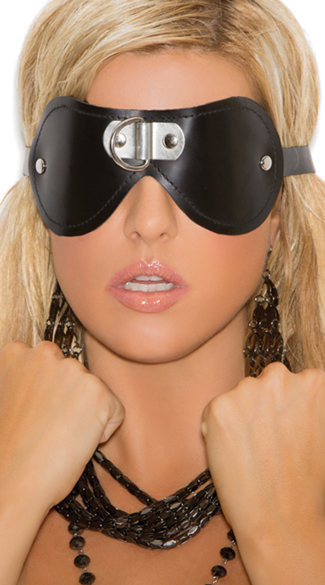 Leather Studded Eye Mask, Leather Eye Mask, Black Eye Mask