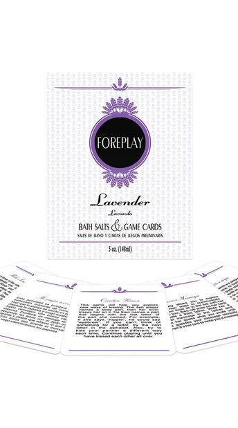 Lavender Bath Salts Card Game - As Shown