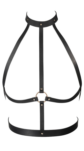 Black High Neck Harness - As Shown