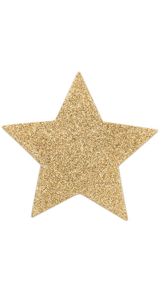 Flashy Gold Star Pasties - Gold
