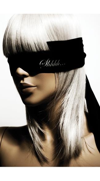 Shhh Reversible Blindfold - Black