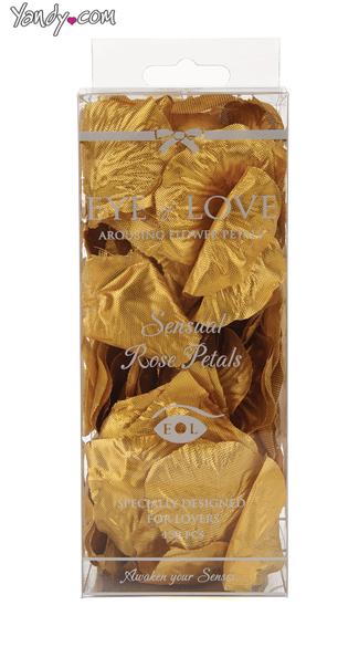 Sexy Gold Rose Petals, Sensual Bedroom Flowers, Romantic Flower Petals