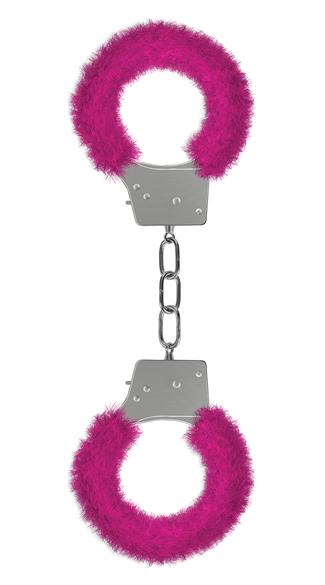 Furry Pink Handcuffs - Pink