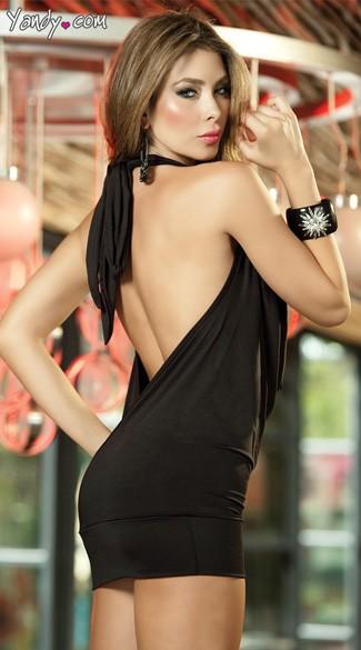 Deep Cowl Neck Party Dress Low Cut Mini Dress Yandy Com