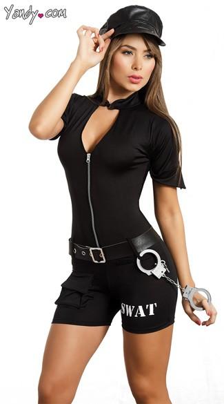 sc 1 st  Yandy & Agent SWAT Costume SWAT Halloween Costume SWAT Womens Costume