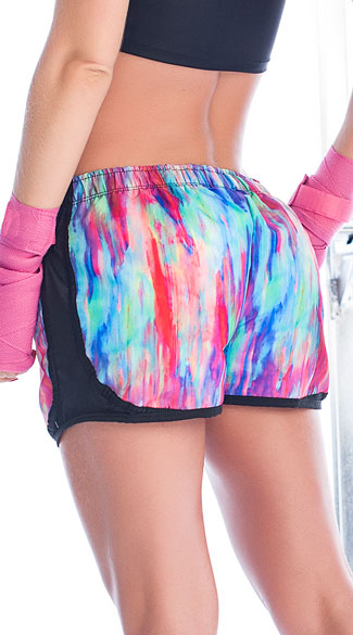 Watercolor Running Shorts - As Shown